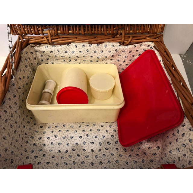 1960s Brexton Picnic Basket for Two For Sale - Image 5 of 10