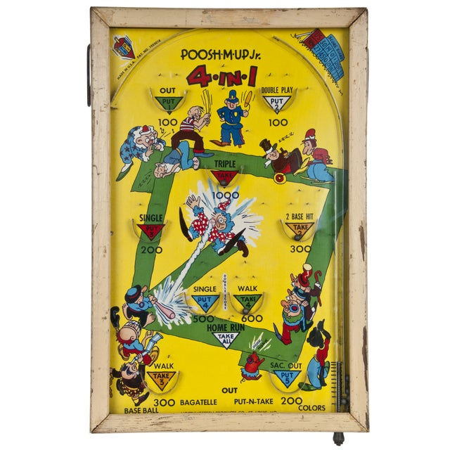 Early 1900s Poosh-M-Up Jr. Bagatelle Pinball Game For Sale