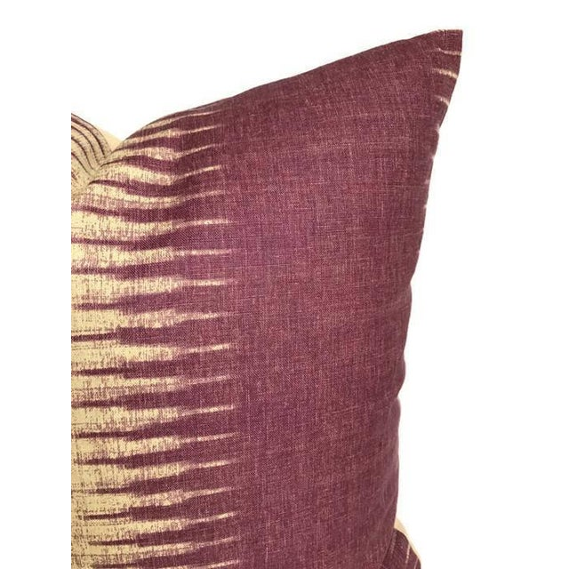 Boho Chic Purple Ikat Pillow Cover For Sale - Image 3 of 4