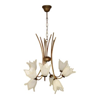 Cierre Studio Italian Handcrafted White Glass Pendant Lamp For Sale