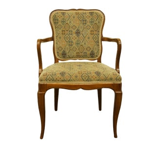 Late 20th Century Rway Furniture Country French Style Dining Arm Chair For Sale