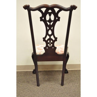 Antique 19th C Mahogany Chippendale Style Ball & Claw Shell Carved Side Chair Preview