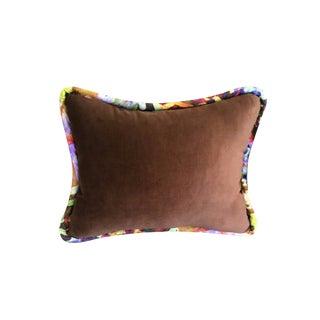 Boho Chic Brown Luxurious Velvet Pillow - 16x20 For Sale