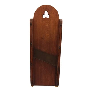 19th Century Pine Slawboard With Cut-Out For Sale