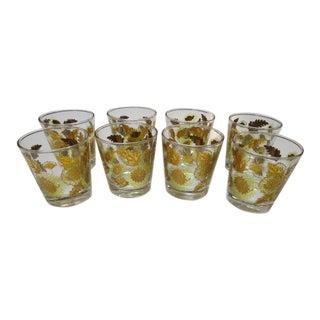 Vintage Mid Century Modern Rocks Glasses, C1960 - Set of 8 For Sale