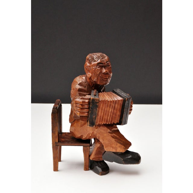 Early 20th Century Accordion Player in German Expressionist Style For Sale - Image 5 of 11
