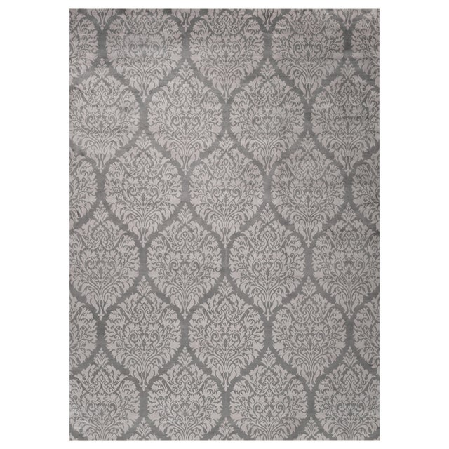 Stark Studio Rugs Contemporary Oriental Bamboo Silk Rug - 10' X 14' For Sale