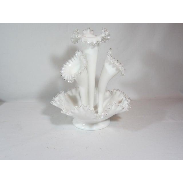 Fenton Epergne Ruffled Vase - Image 8 of 8