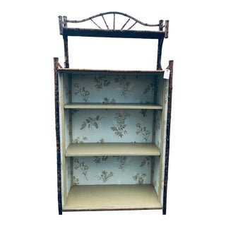 19th Century English Bamboo Bookcase For Sale