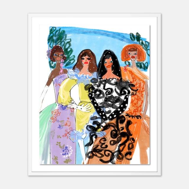 Annie Naranian Garden of Rodarte by Annie Naranian in White Frame, Medium Art Print For Sale - Image 4 of 4