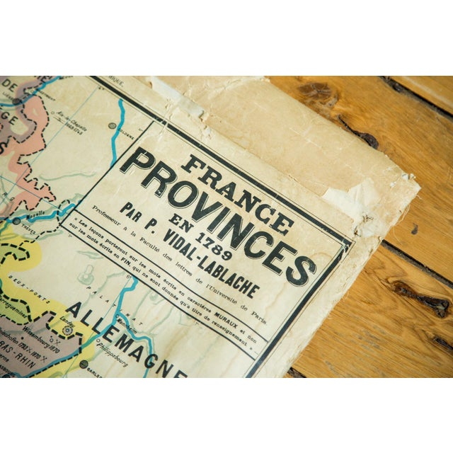 Antique Pull Down Map of France For Sale In New York - Image 6 of 6
