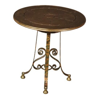 Italian Wrought Iron Gilt Center Table, Mid 20th Century For Sale