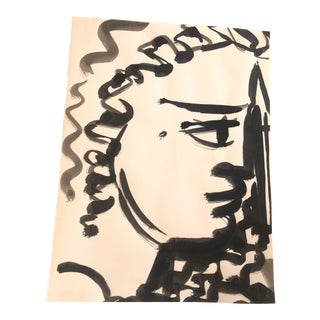 1980s David Stein Ink on Paper Drawing For Sale