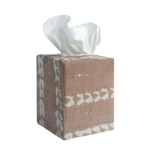 Vines Tissue Box Cover in Nude For Sale