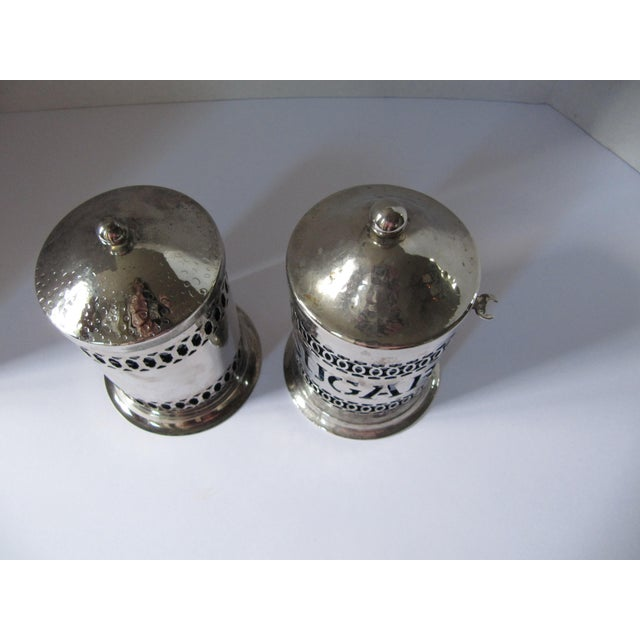 Vintage Silver-Plate Canisters- A Pair - Image 9 of 9