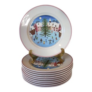 Villeroy & Boch Christmas Salad Plates - Set of 10 For Sale