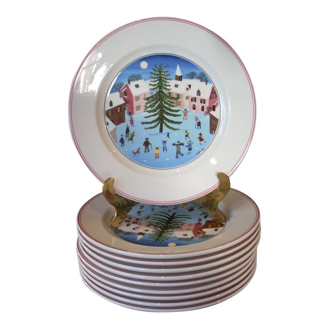 Villeroy & Boch Christmas Salad Plates - Set of 10 For Sale