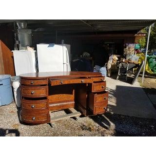 Vintage Burl Walnut Desk Preview