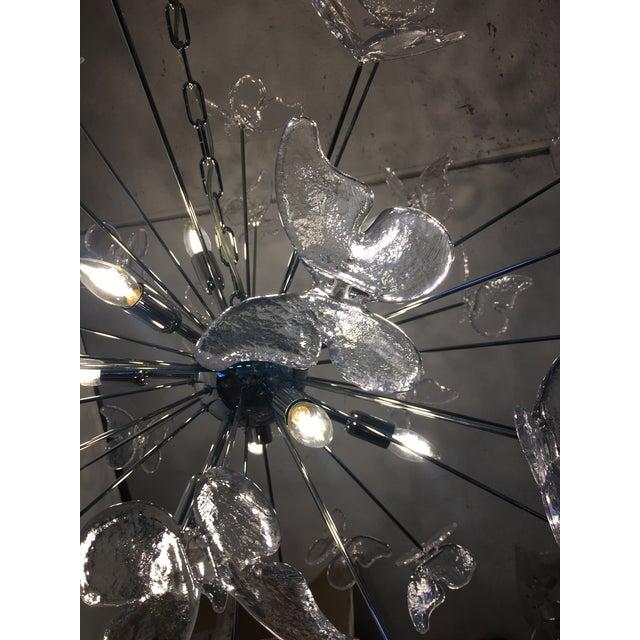 Glass Italian Mid-Century Kromo Murano Glass Butterfly Sputnik Chandelier For Sale - Image 7 of 11
