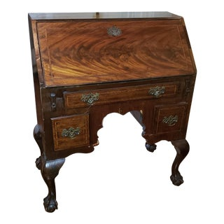 Antique English Traditional Wood Secretary Desk For Sale