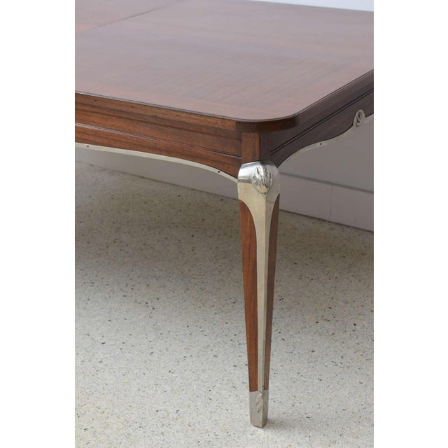 Jean Pascaud Late Art Deco Palisander Extension Dining Table by Jean Pascaud For Sale - Image 4 of 8