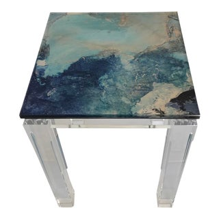 Waterfall Collection Our Handcrafted Acrylic Martini Table For Sale