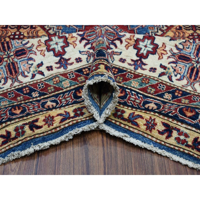 Hand Knotted Blue Kazak Wool Rug For Sale In New York - Image 6 of 13