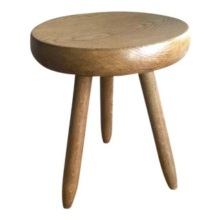 Charlotte Perriand 1950s High Tripod Ash Tree Stool in Vintage Condition