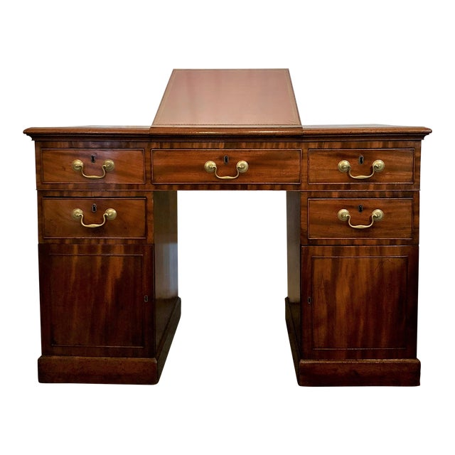 Antique 19th Century Mahogany Architect's Desk For Sale - Exquisite Antique 19th Century Mahogany Architect's Desk DECASO