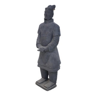 Chinese Qin Dynasty Style Life-Size Terracotta Soldier Statue For Sale