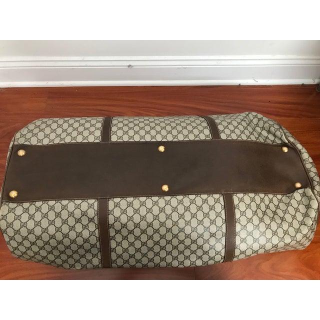Huge Vintage Gucci Monogram Duffel Bag For Sale - Image 9 of 12