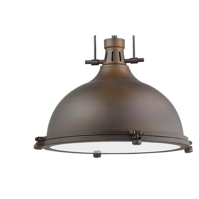 Industrial Warehouse 1 Light Pendant, Oiled Bronze For Sale - Image 3 of 10
