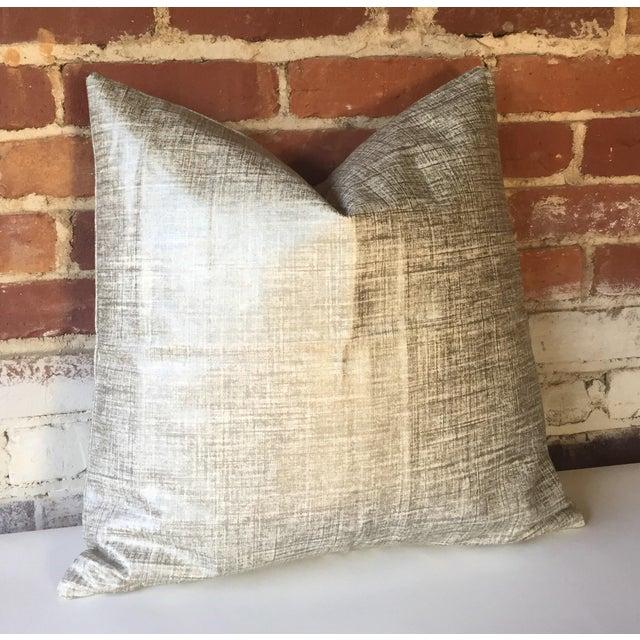 Platinum Metallic Linen Pillow Cover - Image 3 of 5