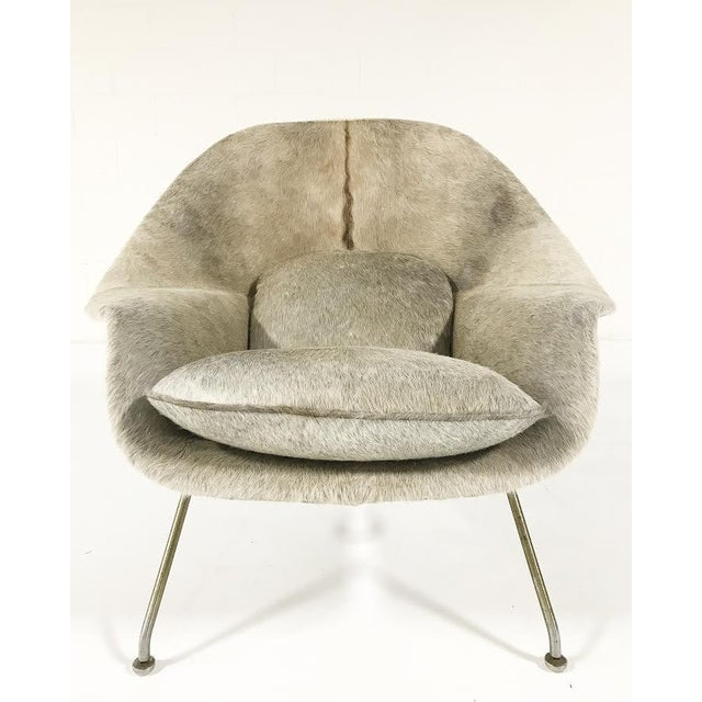 VINTAGE CIRCA 1958 EERO SAARINEN WOMB CHAIR RESTORED AND REUPHOLSTERED IN BRAZILIAN COWHIDE We collected this beauty for...
