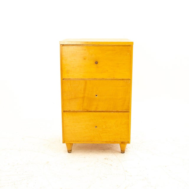 Paul McCobb Style Mid Century 3 Drawer Nightstand Nightstand measures: 18 wide x 16 deep x 30.25 high When you purchase a...