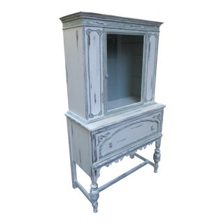 1940s Vintage China Cabinet For Sale