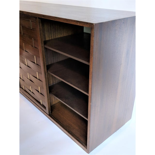 Harvey Probber Woven Front Credenza Sideboard - Image 8 of 10
