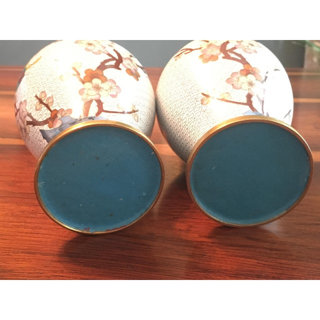 Pair of Chinese Cloisonne Enamel Ginger Jar Vases - Image 9 of 11