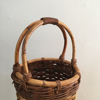 Vintage Woven Wicker Umbrella Basket Preview