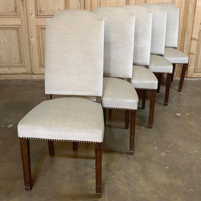 Vintage Mid Century Neoclassical Dining Chairs- Set of 10 For Sale - Image 4 of 13