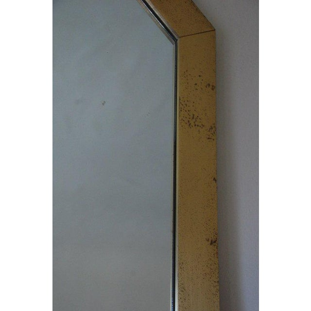 1970s French 1970's Octogonal Brass Mirror by Guy Lefevre For Sale - Image 5 of 6