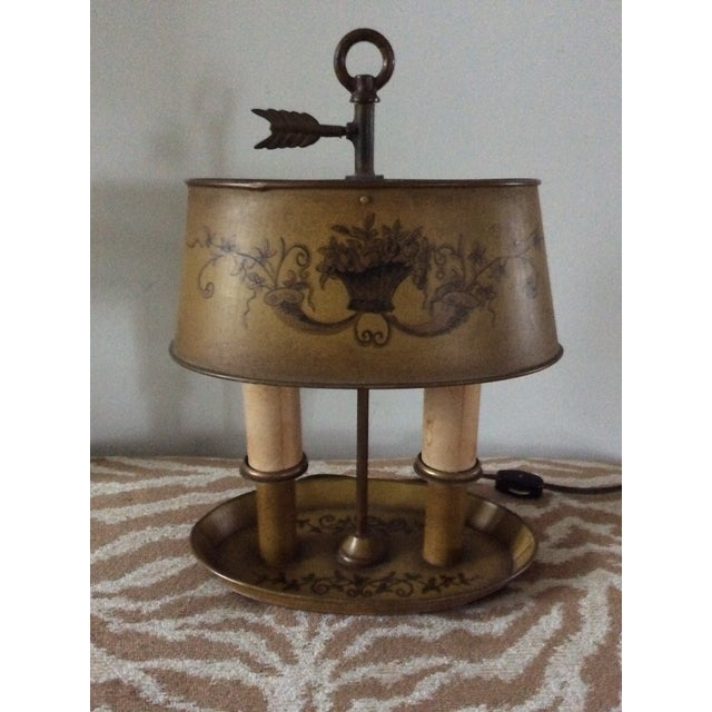 1940s 1940s Vintage French Tole Bouillotte Desk Lamp For Sale - Image 5 of 12