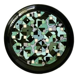 1977 Studio Pottery Plate Signed Jeniye For Sale