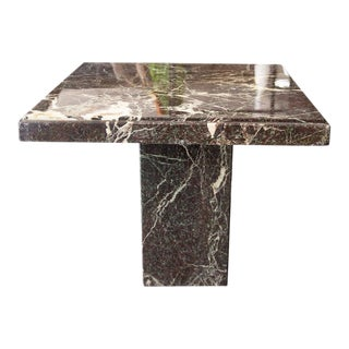 20th Century Contemporary Faux Marble Side Table For Sale
