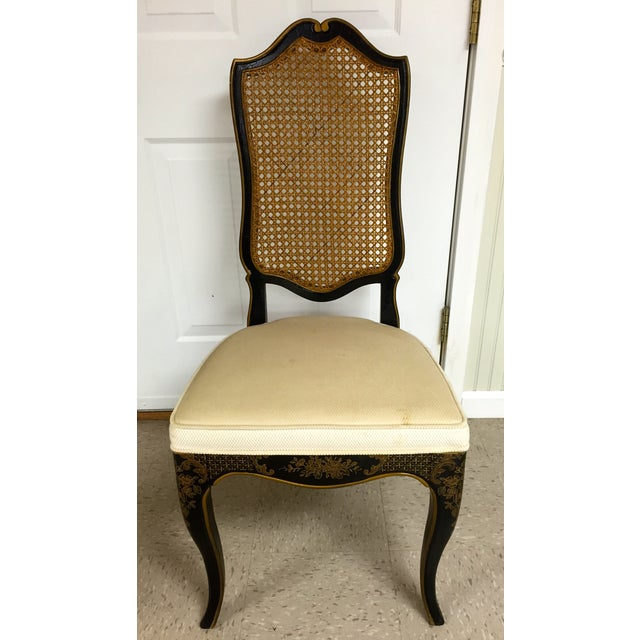 Drexel Chinoiserie Leather Writing Desk & Chair - Image 10 of 11