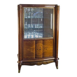 French Silver Cabinet in the Style of Leleu For Sale