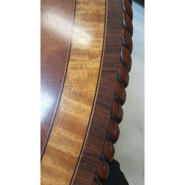 Mahogany Traditional Millender Round Mahogany Dining Table For Sale - Image 7 of 13