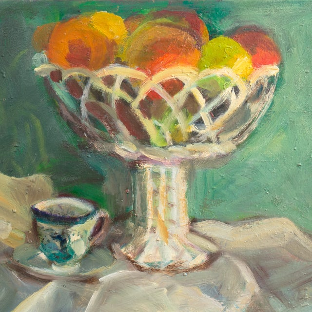 Oil Still Life With Porcelain Teacup - Image 2 of 5