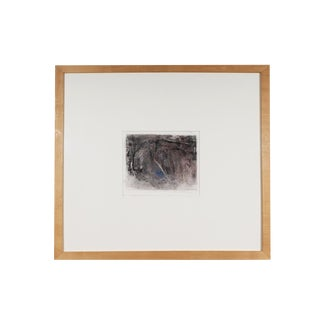 1992 Herbert C. Cassill Signed Abstract Crayon Drawing For Sale