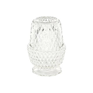 Diamond Glass Candle Holder For Sale